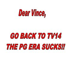 WWE- Bring Back TV14  Photographic Print