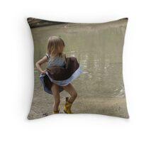 The Joy of Childhood Throw Pillow