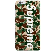Bape x Supreme Box Logo - Green Camo iPhone Case/Skin
