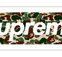 Bape x Supreme Box Logo - Green Camo Sticker
