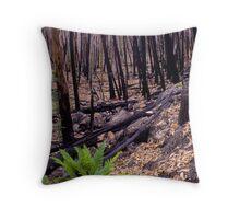 Green Fern regrowth Throw Pillow