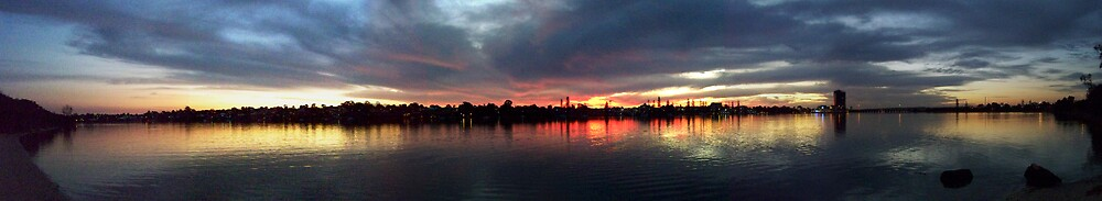 Swan River Sunset Full View Pano by Daniel Rayfield