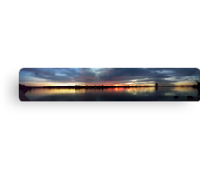 Swan River Sunset Full View Pano Canvas Print
