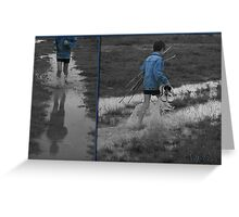 Selective Blue Boy... Free State, South Africa Greeting Card