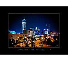 Downtown Oklahoma City - Black Border Photographic Print