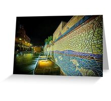 Bricktown Canal Fountain Greeting Card