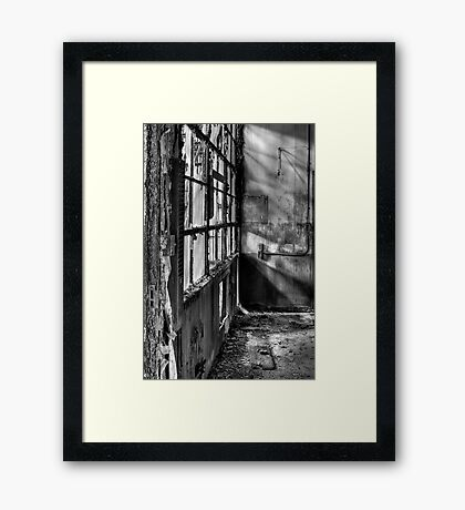Decayed Office Framed Print
