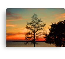 Fire on the Mainland Canvas Print