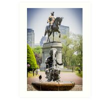 George at the Common Art Print