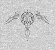 Caduceus Tattoo - Black by James Camilleri