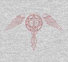 Caduceus Tattoo - Red by James Camilleri