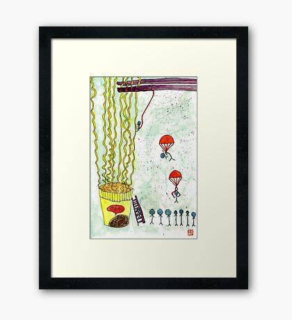 The Mission of Instant Noodles Framed Print