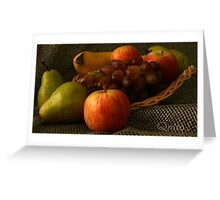 Fruit Display... South Africa, Free State Greeting Card