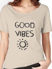 ☀Good Vibes☾ Women's Relaxed Fit T-Shirt