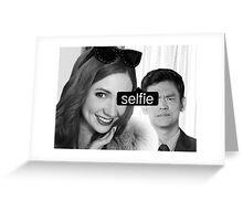 tagged selfie Greeting Card