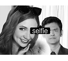 tagged selfie Photographic Print