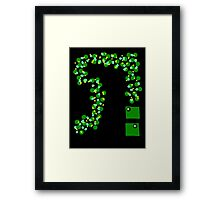RGB Series - Green 002 (black background) Framed Print