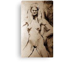 Nude Stare Canvas Print