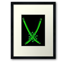 RGB Series - Green 004 (black background Framed Print