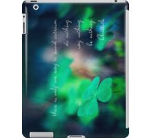 There is only one way to avoid criticism: do nothing, say nothing and be nothing.  iPad Case/Skin