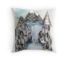 An alpine scene Throw Pillow