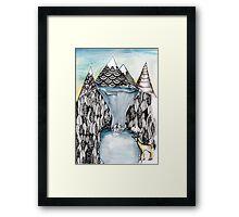 An alpine scene Framed Print