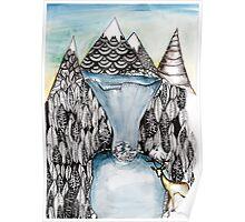 An alpine scene Poster