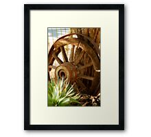 """""""Old Wagon Wheel""""  (South Africa) Framed Print"""