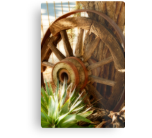 """Old Wagon Wheel""  (South Africa) Metal Print"