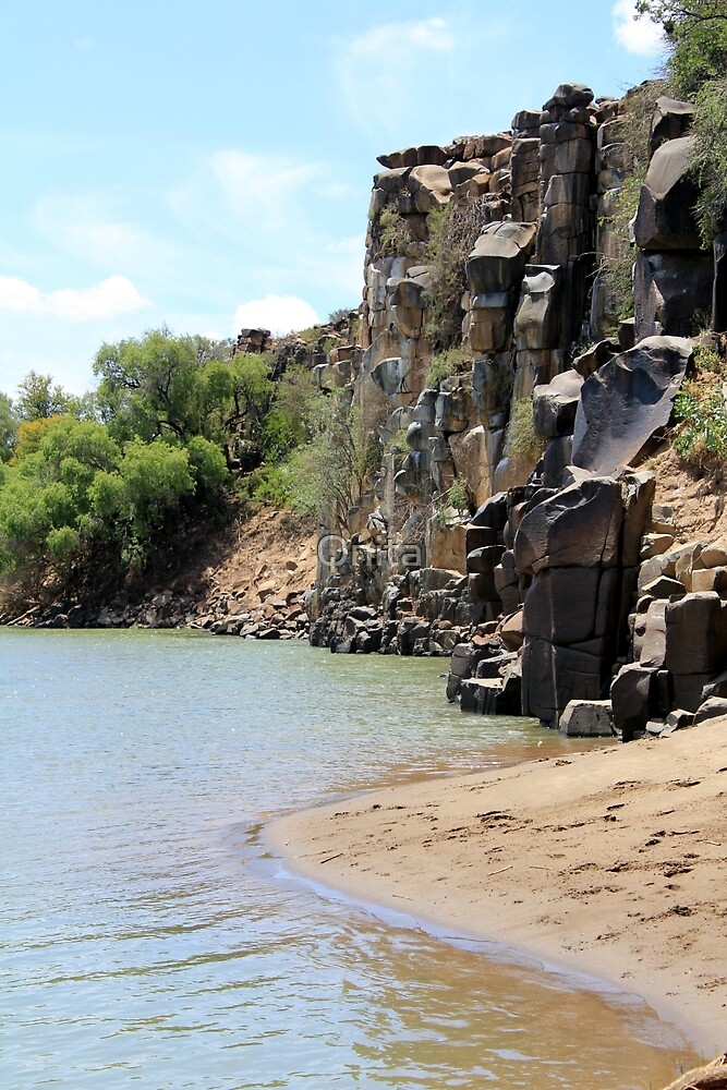 "By die Kranse... By the cliffs...  ""Oranje Rivier"", Northern Cape, South Africa by Qnita"