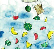 Why Watermelon Drop from Bottle by missbanana