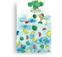 Why Watermelon Drop from Bottle Canvas Print