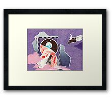Bic Ball Point Pen Drawing: Interstellar Moghul Gateway Generational Asteroid Framed Print