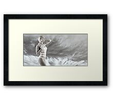Girl on swimsuit Framed Print