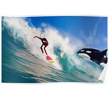Corky's surfing Poster