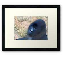 Gorilla Design Illustration Framed Print