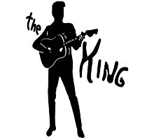 the king of rock t-shirt Photographic Print