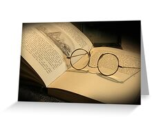 Once upon a time... (Old Book & Glasses) Free State, South Africa Greeting Card