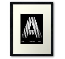 The letter A Framed Print