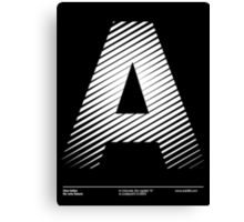 The letter A Canvas Print