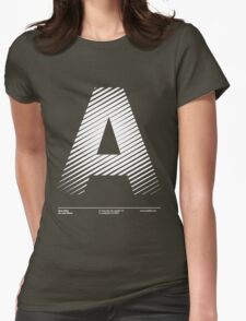The letter A Womens Fitted T-Shirt