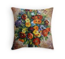 SPRING PASSION limited edition giclee of L.AFREMOV painting  Throw Pillow