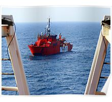 North Sea oil rig standby vessel Esvagt Supporter. Poster