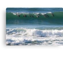 Surfin' Cetaceans Canvas Print