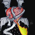 Dragon Holding Heart by Roscoe Davis III