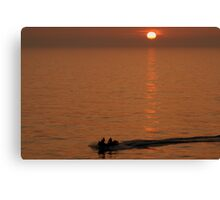 Fast Rescue Craft In The Sunset Canvas Print