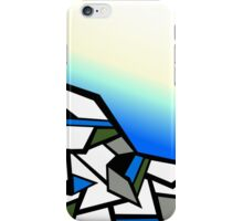 Glacier abstract blue mountain vector landscape iPhone Case/Skin