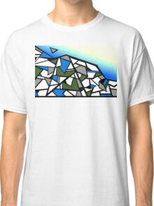 Glacier abstract blue mountain vector landscape Classic T-Shirt