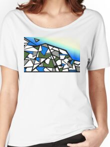 Glacier abstract blue mountain vector landscape Women's Relaxed Fit T-Shirt