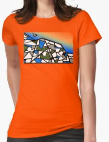 Glacier abstract blue mountain vector landscape Womens Fitted T-Shirt